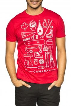 For the ultimate Canadian guy. Guys 'Symbols of Canada' graphic tee Canadian Men, O Canada, Graphic Tees, Writing, Guys, Mens Tops, Symbols, Shopping, Fashion