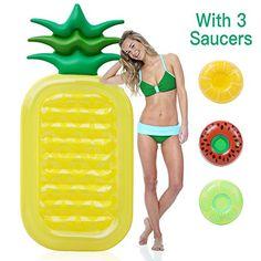Intex Pineapple Schwimmreifen/Schwimm Schlauch/Schwimmbad Aufblasbar/Schwimmbad Ruder- & Paddelboote