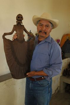 Artist Miguel de la Cruz and his work (unfinished), Michoacan MX. This is a…