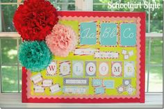 Summer Soiree by Schoolgirl Style. Classroom themes, bulletin board ideas, decor, and classroom organization. www.schoolgirlstyle.com