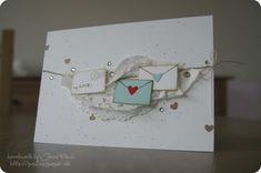 Valentine Card, Mini Envelopes, Doily
