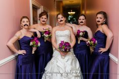 Photography by Leah weddings. #mustache #bridalparty #capemaywedding  Cape May, NJ.