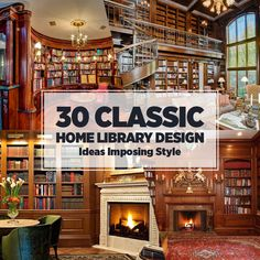 Groovy 30 Classic Home Library Design Ideas Imposing Style Largest Home Design Picture Inspirations Pitcheantrous