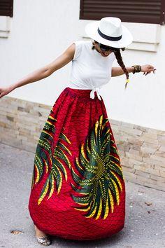 ankara full skirt style