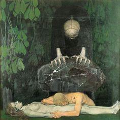Oskar Zwintscher, Grief (Gram). Städtischen Galerie Dresden Date: 1898. Technique: Oil on canvas,