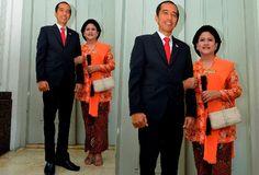 The inauguration of President and Vice President | Iriana Jokowi | kebaya kutubaru