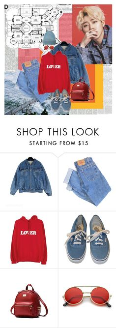 """""""casual"""" by ani-onni on Polyvore featuring Levi's, Vans, ZeroUV and Tak.Ori"""