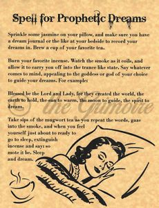 Spell-for-Prophetic-Dreams-Psychic-Power-Book-of-Shadows-Pages-BOS-Pages