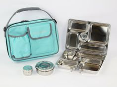 $59.95 - Amazon.com: PlanetBox Rover Lunchbox - Aqua Carry Bag with Fairies Magnets: Kitchen & Dining