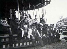 Workmen & Showmen take a break at Knutsford Royal May Fair, 1953 My Family History, How Lucky Am I, Big Top, Sideshow, Nottingham, Historical Photos, Carousel, Carnival, Folk