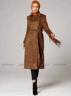 The perfect addition to any Muslimah outfit, shop Mustafa Dikmen's stylish Muslim fashion Point Collar - Fully Lined - Tan - Coat. Find more Coat at Modanisa! Point Collar, Muslim Fashion, Raincoat, Outfit Shop, Stylish, Jackets, Outfits, Shopping, Rain Jacket