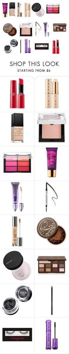 """Matte fall eyes + red lips"" by tyronewelle ❤ liked on Polyvore featuring beauty, Sephora Collection, tarte, Givenchy, Viseart, Urban Decay, Benefit, Too Faced Cosmetics, Maybelline and Lancôme"