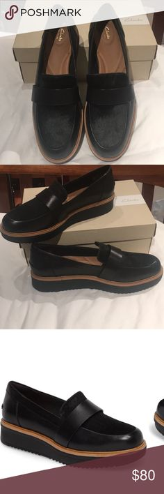 41c608e5646 Clarks Teadale Elsa black combi leather New never used! The Teadale Elsa is  part of the Clarks® Artisan Collection . Black leather and textile upper.