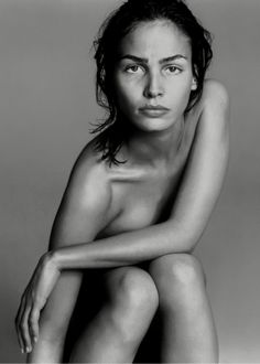 Ines Sastre, shot by Terence Donovan in 1997.