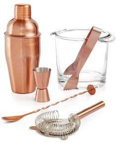 Luminarc Copper Barware Collection - Dining & Entertaining - Macy's
