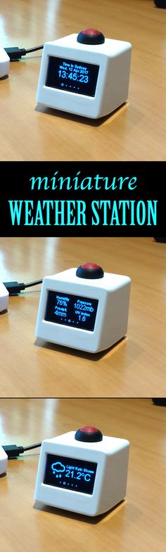 Learn how to build and customize a mini weather station for your home. - Home Technology Diy Tech, Tech Hacks, Cool Tech, Arduino Wifi, Esp8266 Wifi, Technology Hacks, Home Technology, Diy Electronics, Electronics Projects