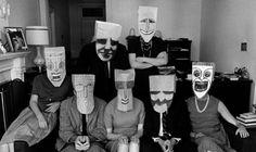 Photo: Inge Morath, Paper bag mask: Saul Steinberg