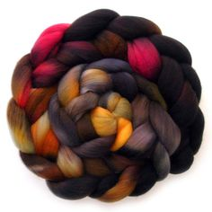 Roving Handdyed Organic Polwarth Combed Top  by JulieSpins on Etsy