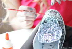 DIY glitter Converse shoes tutorial <3