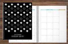 2016 2017 MONTHLY planner custom planner month at a glance planner calendar MAG…
