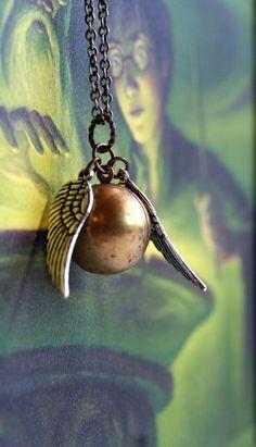 Golden Snitch necklace. $16 @Danielle Nettuno @Rebecca Cairns