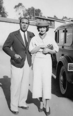 Marcel Rochas, and his wife Rina Rosselli - c. 1931 - California - Photo by George Hoyningen-Huene