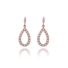 Thea rose gold plated pave earrings