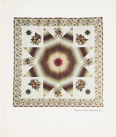 12 great quilts from the American Wing catalogue. 1974. Metropolitan Museum of Art (New York, N.Y.). Thomas J. Watson Library. Metropolitan Museum of Art Publications. #quilts #stars #design #patterns #floral