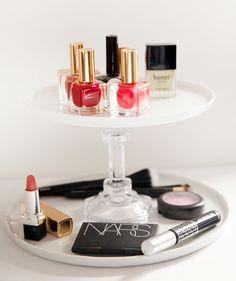 P.S.- I made this... DIY makeup stand