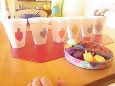 This will be a great activity for the 3-4 year olds.... dreidle sorting