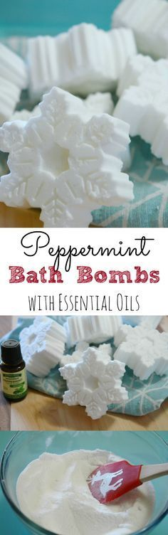 Peppermint Bath Bombs - Retro Housewife Goes Green Easy, DIY peppermint bath bombs using essential oils. They make the perfect homemade gift!Easy, DIY peppermint bath bombs using essential oils. They make the perfect homemade gift! Easy Homemade Christmas Gifts, Homemade Gifts, Christmas Diy, Diy Gifts, Christmas Bath Bombs, Christmas Things, Christmas 2017, Essential Oil Bath Bombs, Essential Oils