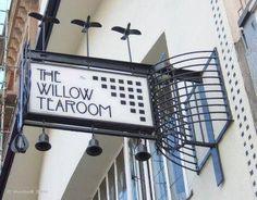 The Willow Tearoom in Glasgow, designed by Charles Rennie Mackintosh