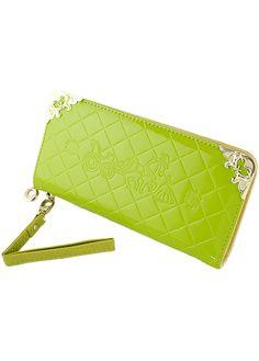 Green Diamond Pattern Metal Embellished Clutches Bag 11.26