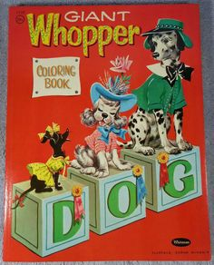 1959 Vintage GIANT WHOPPER Coloring Book by Florence Sarah Winship, unused