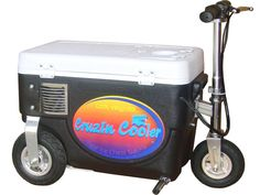Cruzin Cooler combines two basic necessities of life, the ability to have cold food or a beverage handy along with the means to get somewhere, without walking. The Cruzin Cooler is light-weight, comes