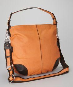 Take a look at this Orange Hampton Hobo by Nino Bossi Handbags on #zulily today!