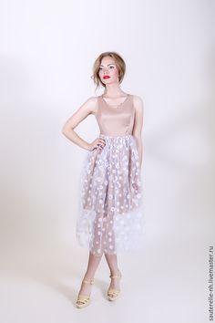 """Cocktail Dress / Платья ручной работы. Ярмарка Мастеров - ручная работа. Купить Платье """"Лея"""". Handmade. Бежевый, платье, Коктейльное платье, стиль"""