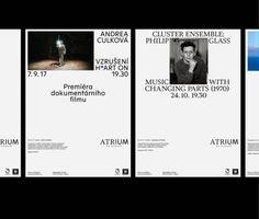 #visualstyle #poster #graphicdesign #typography #atrium #prague