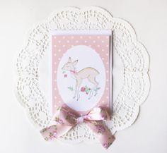 Postcard  Mrs doe & her rose / Carte postale by Charlottetheteapot, €2.00