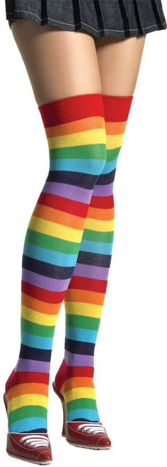 costume accessory: women's thigh high rainbow adult