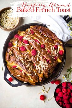 This Raspberry Almond French Toast Casserole is an easy, but sure-to-be-impressive breakfast with its subtle almond baked raspberries and sweet bread. Breakfast Bread Recipes, Healthy Bread Recipes, Brunch Recipes, Sweet Recipes, Delicious Recipes, Brunch Ideas, Healthy Food, French Toast Bake, French Toast Casserole