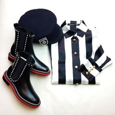 6ac1cf209e27 From ModeSens closet CHRISTIAN LOUBOUTIN Notting Hill 25 Studded Leather  Chelsea Boots Leather Chelsea Boots