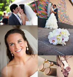 "I received these gorgeous pictures from one of my customers ""Caitlin McBrair"" who ordered Angelina Style pink earrings from ""Toosis"" for her wedding. With the pale pink touch on her shoes, flowers and earrings we think she did a tremendous job being the glamerous stylish bride."