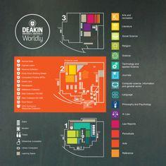 Estudo sinalização Biblioteca Deakin   Núcleo de Design Gráfico Ambiental - NDGA