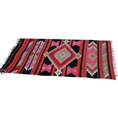 Vintage Handmade Boho Wool Kilim Rug- 2′10″ × 4′3″ (24.575 RUB) ❤ liked on Polyvore featuring home, rugs, handmade turkish rugs, turkish area rugs, wool rugs, kilim area rugs and kilim rugs