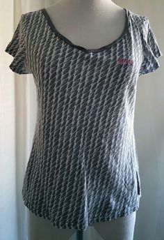 445d4956e80 Lee Cooper Ladies Short Sleeved Grey And White T-shirt Size 12 (Av20-