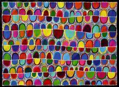 Aboriginal ART BY Sally Clark 84cm X 114cm | eBay