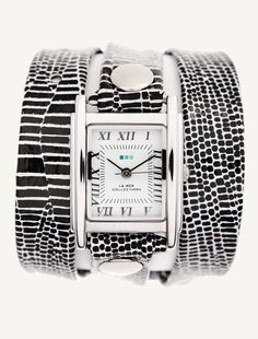 La Mer Watches: African Print Silver Case Wrap