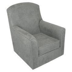 Rockabye Glider Co. Velvet Lara Glider Chair - Steel Grey
