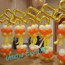 Image Result For Centerpiece Idea To Hold Down Balloons 50th Birthday